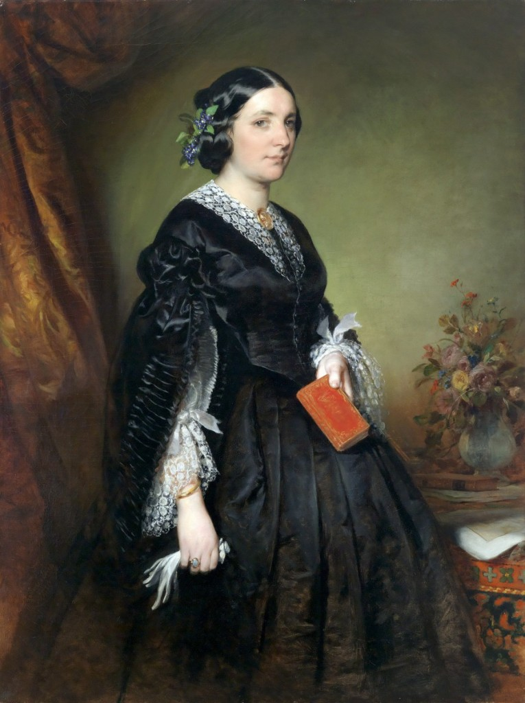 卡洛琳‧史提弗-艾卡拉德(Karoline Stiffel-Ecalard)肖像,油彩畫布。