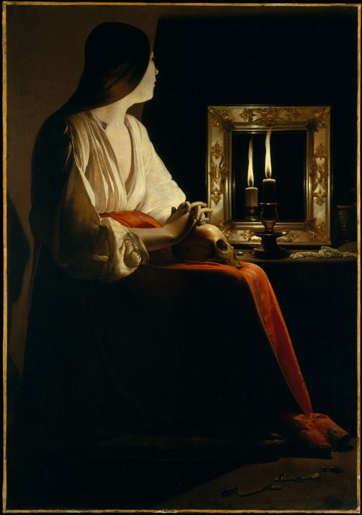 喬治•德•拉•圖爾,《懺悔的抹大拉馬利亞》,油彩畫布,1625-1650,紐約大都會美術館藏。