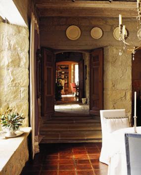 Saladino - villa - enfilade DR to entrance hall