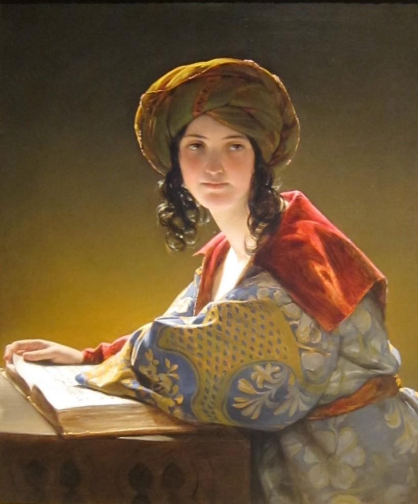 東方少女,油彩畫布,1838,克里夫蘭美術館(The Cleveland Museum of Art)。