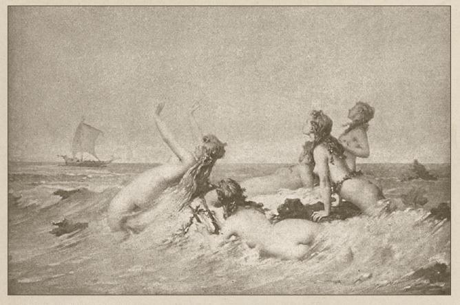 德‧波蒙,《水妖窩巢》,油彩畫布,1877。