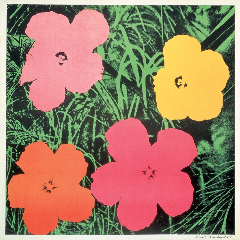 安迪•沃荷,花,絹版,1964。