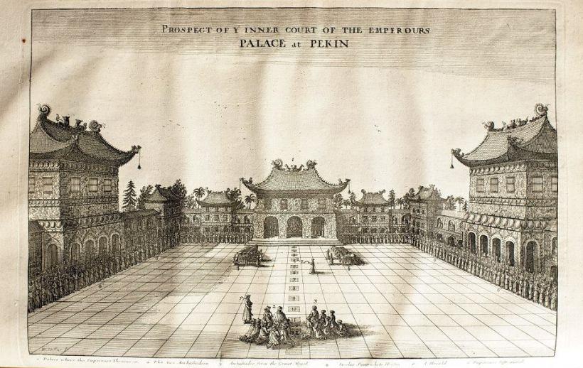 《荷使出訪中國記》英文版插圖:紫禁城。