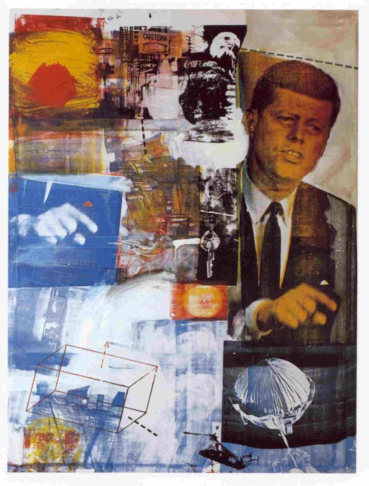 羅森柏格,回顧一,複合媒材,1964。