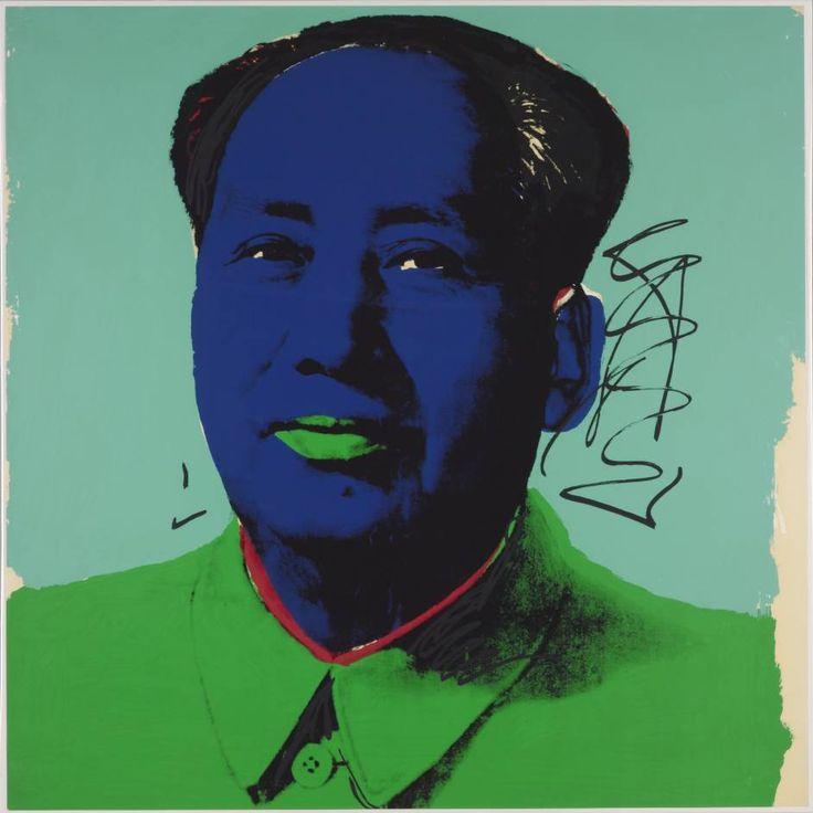 安迪•沃荷,毛澤東,絹版,1972。