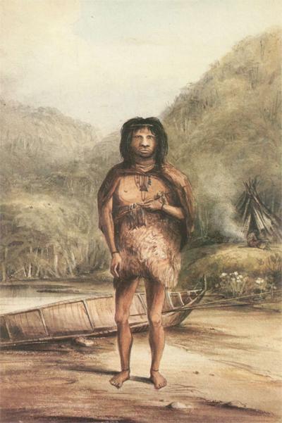 達爾文在火地群島遇見的原住民,讓他相信文明是從較原始的狀態逐漸演化而來的。