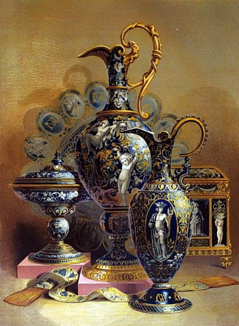 內頁1. group of enamels 法國賽弗爾的搪瓷