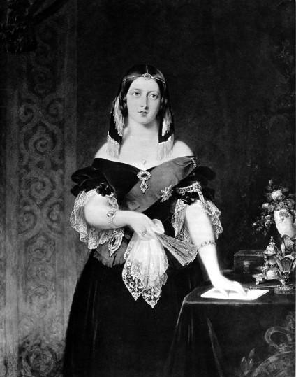 約翰‧帕崔莒(John Partridge, 1789 – 1872),維多利亞女王肖像。