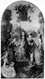 漢斯‧梅林(Hans Memling, c. 1430 – 1494),聖凱瑟林的神秘婚禮。