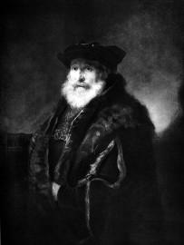 林布蘭特(Rembrandt Harmenszoon van Rijn, 1606–1669),男人肖像。