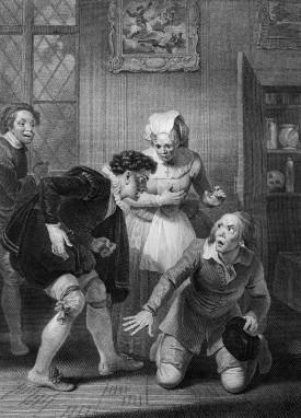 《溫莎的風流婦人》,第一幕,第四場。