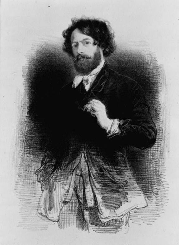 卡瓦尼自畫像,1842。