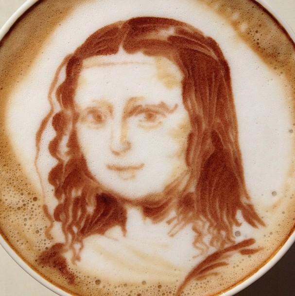 這幅蒙娜麗莎是Sugi 早期的作品