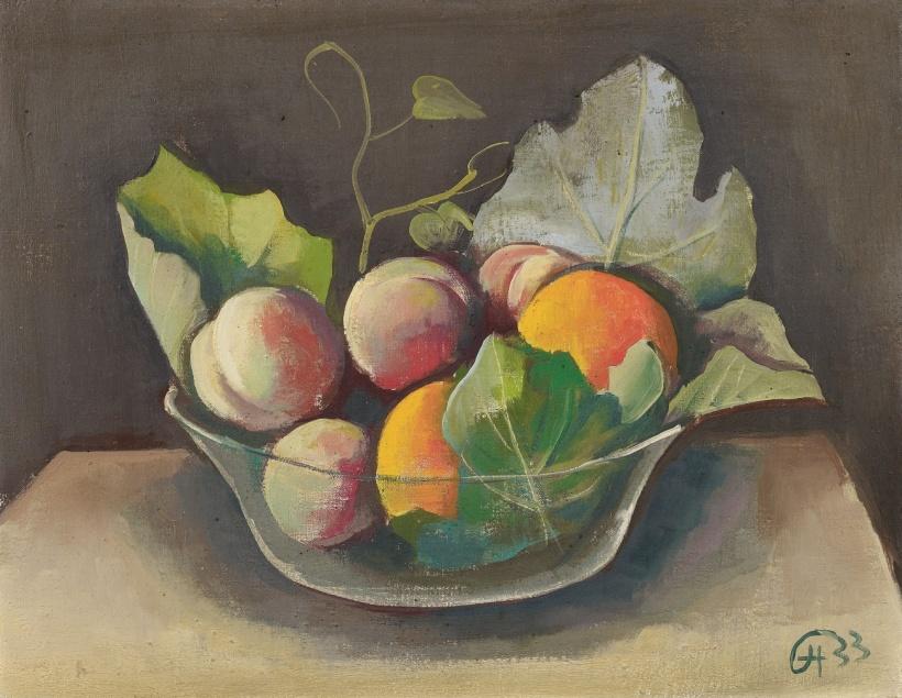 靜物,油彩畫布,1933年,私人收藏。