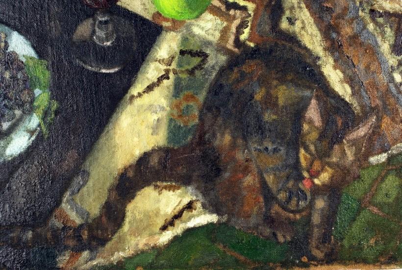 《水果靜物與貓》代表邪惡的貓。