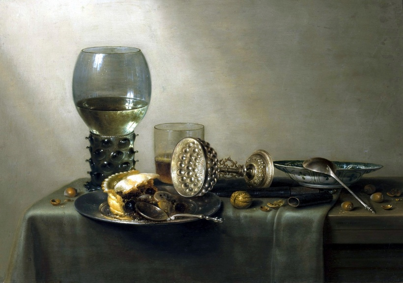 威廉‧賀達,《甜點》,1637年。