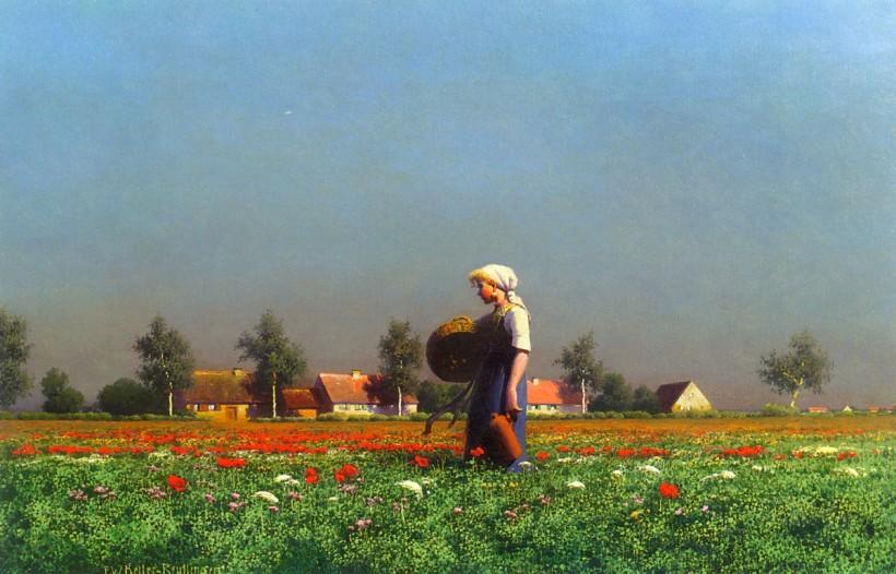 夏日晚霞,油彩畫布,1900,61 x 38.1 cm。