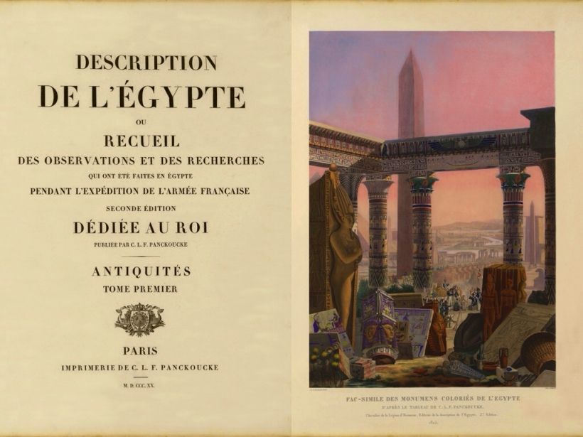 《埃及記述》(Description de l'Egypte)第二版書名頁,1821年出版。