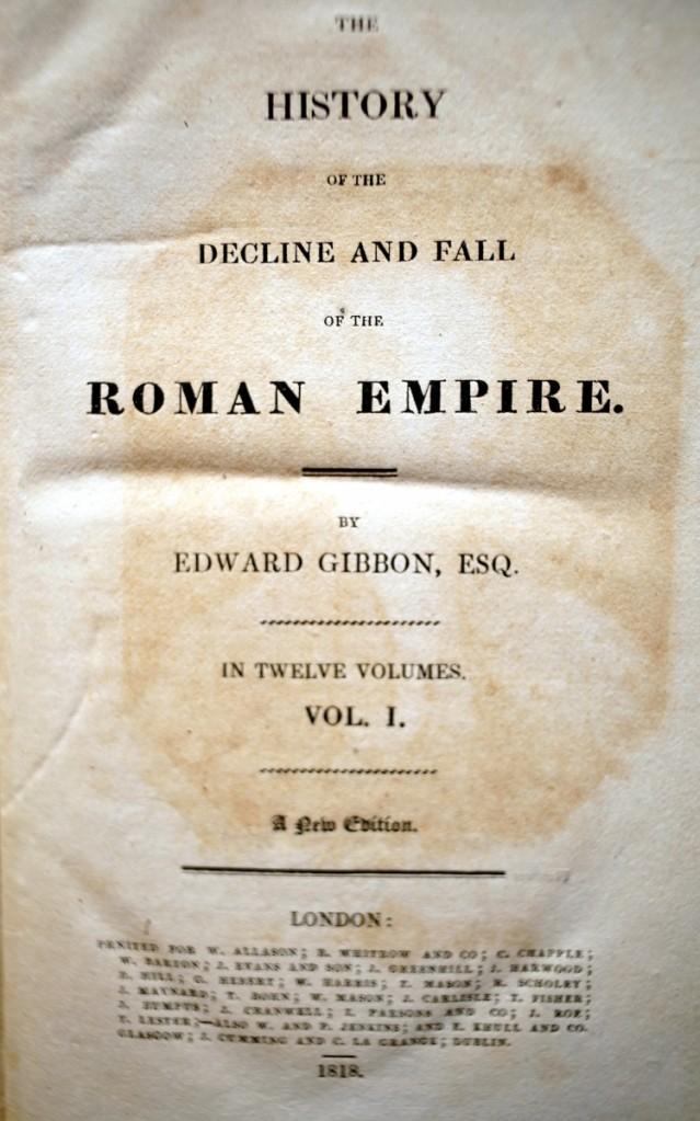 《羅馬帝國衰亡史》1818年新版的書名頁。