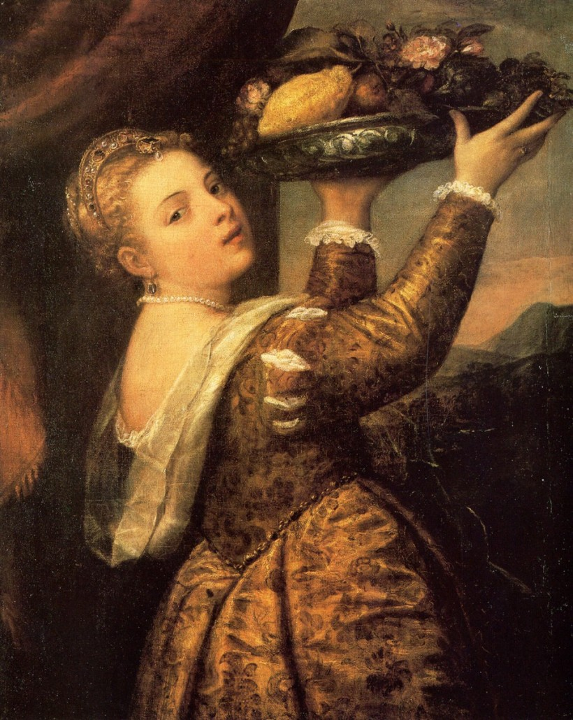 提香女兒娜維妮雅(Tizian's Tochter Lavinia)原作。