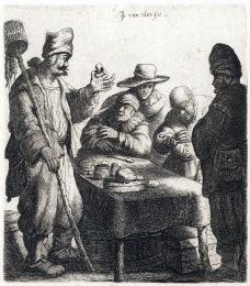 約翰‧凡‧弗利特,捕鼠人,銅版蝕刻。