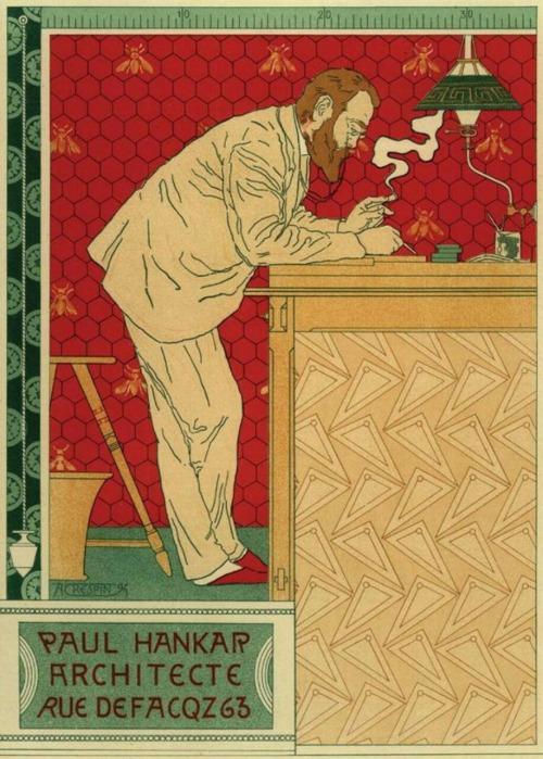 克雷斯賓(Adolphe Crespin)設計的保羅‧韓卡海報