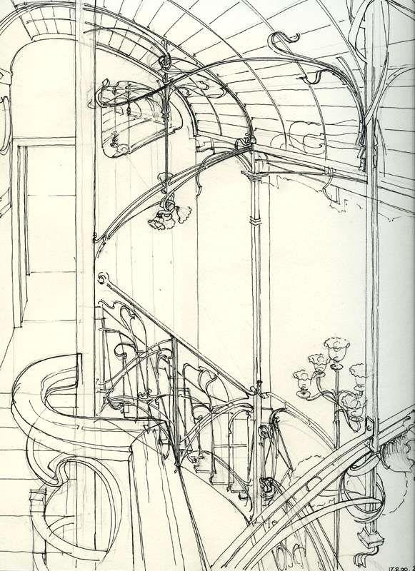 奧塔博物館的設計手稿