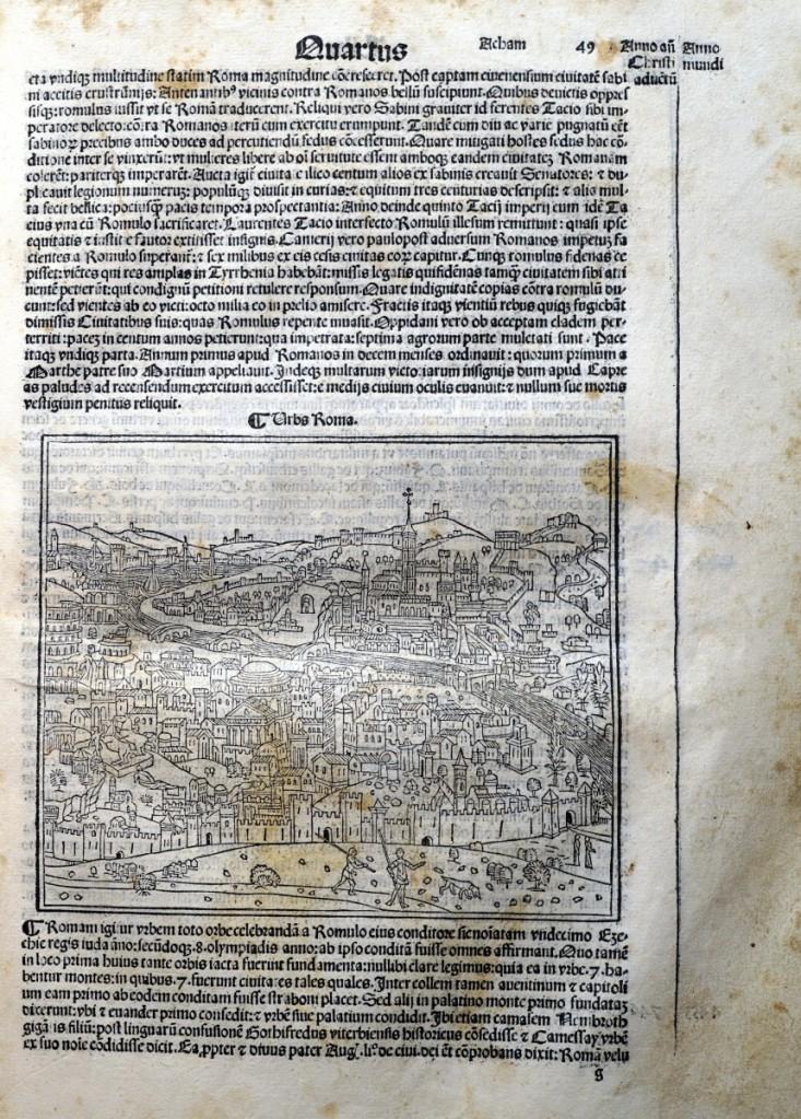 《年鑑補遺》第四版中的羅馬景觀圖。