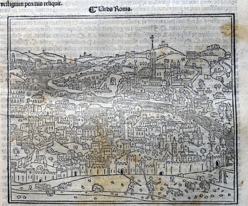 《年鑑補遺》第四版羅馬景觀圖局部。