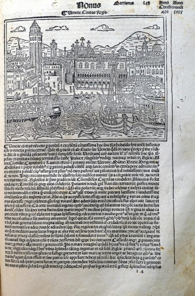 《年鑑補遺》第四版中的威尼斯景觀圖。