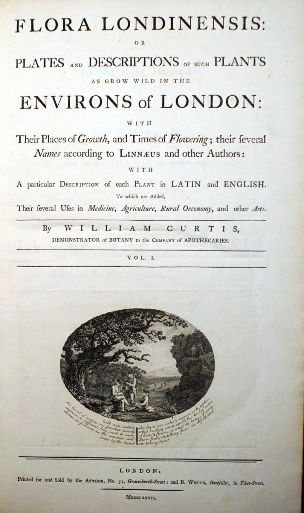 《倫敦花卉》書名頁。