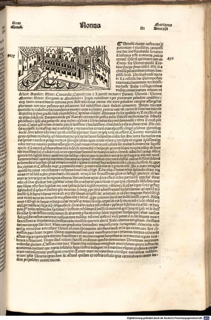 《年鑑補遺》第三版威尼斯景觀圖。