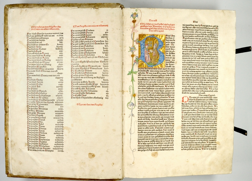 蔡納聖經(Zainer Bible),不晚於1474年。