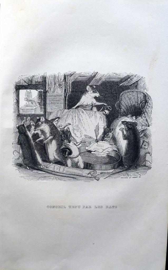 著名的寓言故事:掛鈴鐺的老鼠。