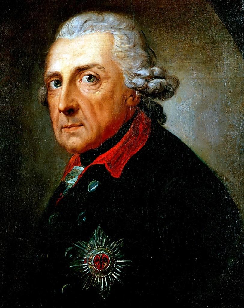 安東‧葛拉夫(Anton Graff, 1736 – 1813),普魯士國王菲特烈大帝,1781。這是瑞士肖像畫家最著名的肖像畫之一,亦是被公認為菲特烈大帝最精確的肖像作品。菲特烈大帝六十八歲。
