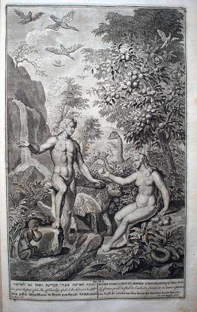 亞當與夏娃偷吃禁果。