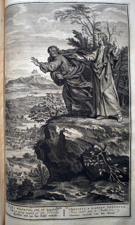 耶穌在曠野受到魔鬼試探。