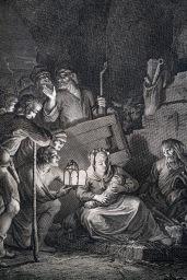 耶穌在馬槽誕生(局部)。