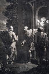 耶穌復活後,在以馬忤斯與兩位門徒相遇。