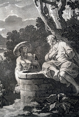 撒瑪利亞婦人與耶穌的交談。
