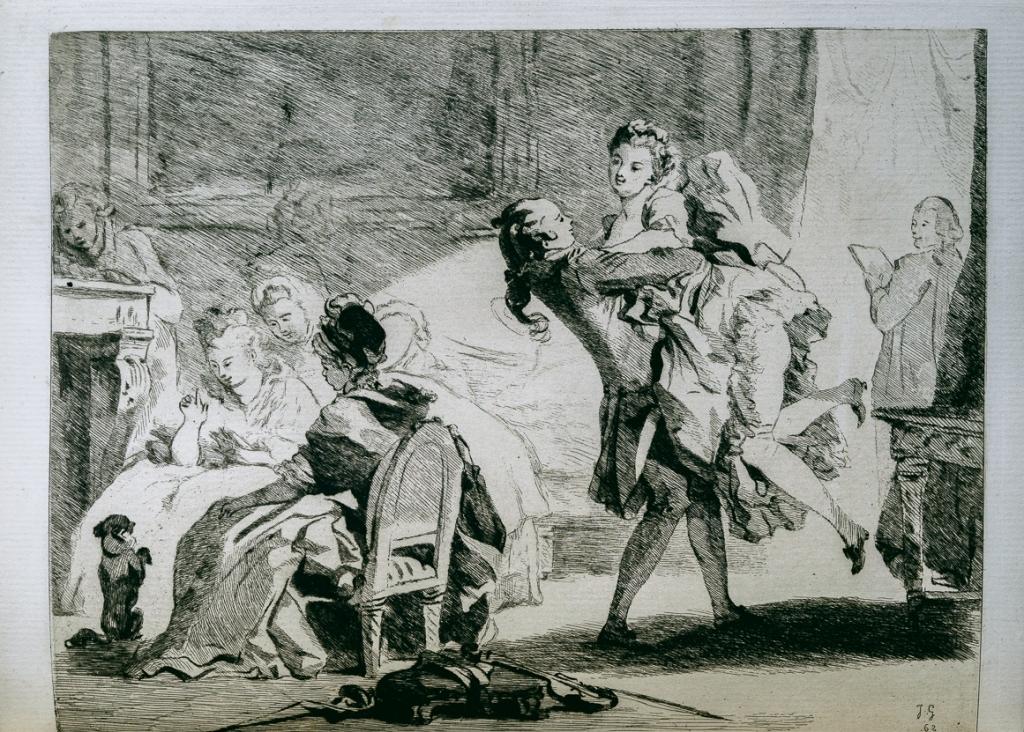 龔固爾兄弟蝕刻版畫下的佛那宮納(Jean-Honoré Fragonard)作品