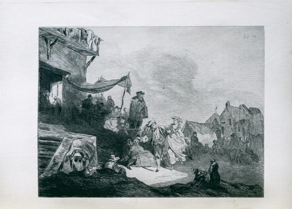 龔固爾兄弟蝕刻版畫下的德布庫(Philibert-Louis Debucourt)作品